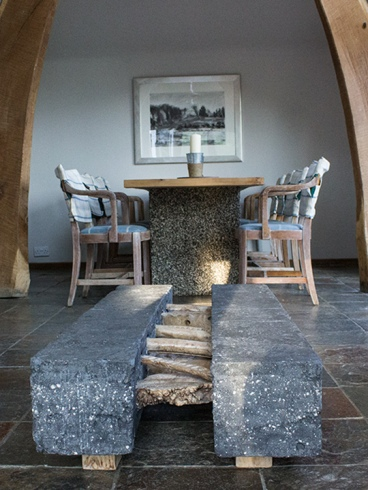 calgary-isle-of-mull-self-catering-hayloft-dining-table