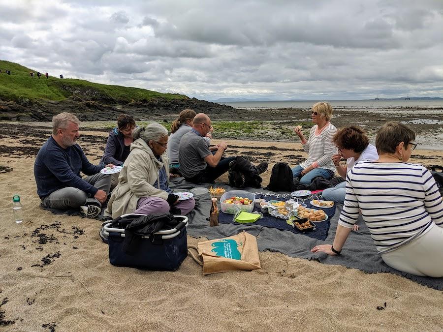 Coastal walk picnic